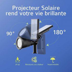 Mpow [2 Pack] 6 LED Lampe Solaire Extérieur